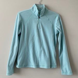 COLUMBIA light blue fleece pullover